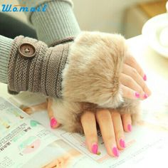 >> Click to Buy << JY 27 Fairy Store 2016 Hot Selling  Women Warm Winter Faux Rabbit Fur Wrist Fingerless Gloves Mittens #Affiliate