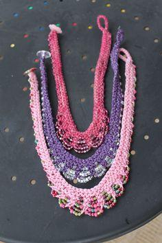 Patrón de collar la chica Glam perla collar por ShainaBilowDesigns