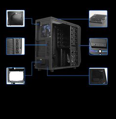 Raidmax Super Hurricane Black Chassis Home Computer, Desktop, Black, Black People