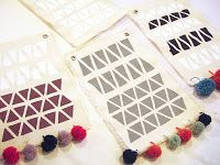 Beautiful geometric wallhangings made by students at my workshop! www.aalicia.bigcartel.com