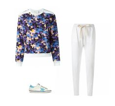 Casual Monday: Iceberg sweatshirt, Bassike track pants, Golden Goose Deluxe Brand sneakers