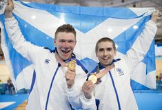 Tandem Cycling pair Neil Fachie and Matt Rotherham won Team Scotland's first gold medal of the Gold Coast 2018 Commonwealth Games in record-breaking time on the opening night in the velodrome.  Fachie and new pilot Rotherham rattled round the track in 1.00.065 seconds, almost two seconds faster than the previous Games record set by Fachie and Craig MacLean to win gold at Glasgow 2014.