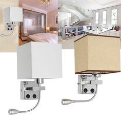 E27 Cloth Modern LED Wall Lamp Sconce Light for Hallway Bedroom Bedside
