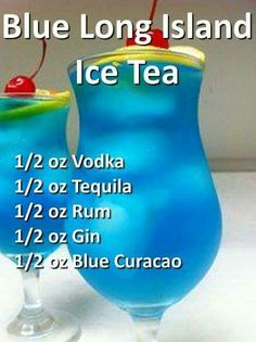 Blue Long Island Ice Tea