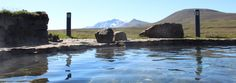 There is nothing wrong with this view from a nature pool in the highlands of East Iceland :) ♥ www.traveleast.is