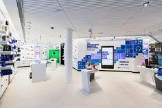 Nokia flagship store by Sundae Creative & 1RetailProject, Helsinki telecommunication