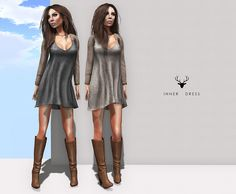 Vestidos manga larga, vestidos cortos