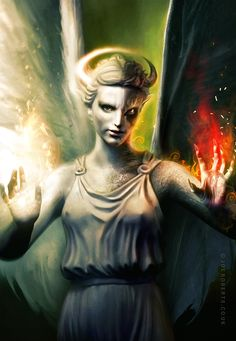 Angel and Demonl by Joe-Roberts.deviantart.com on @DeviantArt