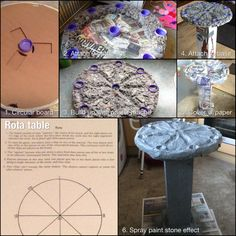 Rota is an old Roman game which is easy to learn. I made a table from some old packaging, bottle lids and papier mâché, then spray painted the whole thing with plasticote stone effect in granite. You also need 6 pebbles, 3 each in two colours, to play the game.