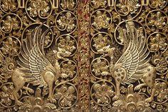 Detail of door, Besakih Temple, Bali, Indonesia
