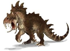 Hipposaurus Monster from Guild Wars Nightfall