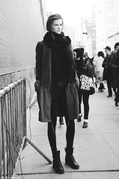 Kasia Struss during New York Fall/Winter Fashion Week 2014.