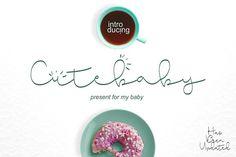 Cute Baby Script by BonjourType on @creativemarket