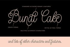 Bundt Cake Script by Up Up Creative on Creative Market