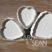 Slh010 в форме сердца любовь сахар фондант торт кат-аутов украшения формы для кексов печенье печенье форма 3 шт. / комплект