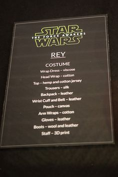 Rey Force Awakens - HQ Photo - Materials!!