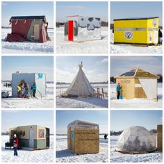 Cool as Ice: 10 Years of Artist-Made Shanties on Frozen Lakes Pike Fishing, Bass Fishing Tips, Best Fishing, Fishing Lures, Ice Shanty, Drop Shot Rig, Giant Fish, City Pages, Industrial Design