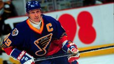 NHL legends in 'wrong' uniforms: forwards edition Wayne Gretzky, St Louis Blues (18 games, 1995-96)