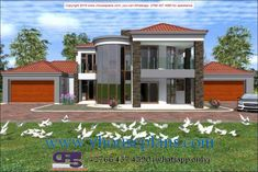 Dream Homes, My Dream Home, Double Storey House Plans, Bungalow House Design, Best House Plans, House 2, Home Collections, Brick, Bedrooms