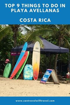 The main reasons to visit Playa Avellanas in Costa Rica are beach time and surfing but theres plenty more to do too. Here are our top things to do in Playa Avellanas. Costa Rica Travel, Thailand Travel, Honduras, Amazing Destinations, Travel Destinations, Travel Usa, Travel Tips, Travel Packing, Budget Travel