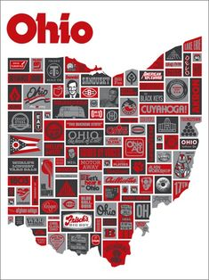 Ohio is a state in the Midwestern United States. Ohio is the largest (by area), the most populous, and the most densely populated of the 50 United States. The state's capital and largest city is Columbus. Buckeyes Football, Ohio State Football, Ohio State University, Ohio State Buckeyes, College Football, Ohio Is For Lovers, Draplin Design, The Buckeye State, Buckeye Nut