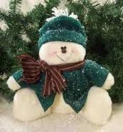 Sitting In Winter Snowman Doll Christmas Clay, Primitive Christmas, Christmas Baubles, Christmas Colors, Christmas Snowman, Christmas Projects, Christmas Decorations, Homemade Christmas, Christmas Holidays
