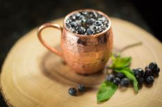 The Moscow Mule Blueberry Ginger Smash Mocktail