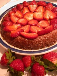 Strawberry Maple Syrup Cake