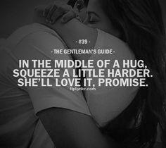 Yep I love being inside your hugs..