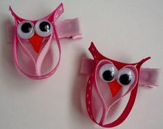 Owl Hair Bow @Tracy Stewart Roach you should make these!