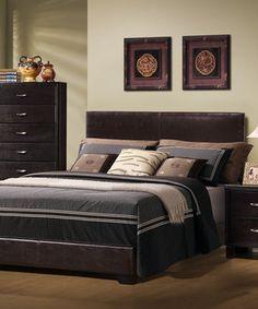 Look at this #zulilyfind! Dark Brown Queen Size Bed by Monarch Specialties #zulilyfinds