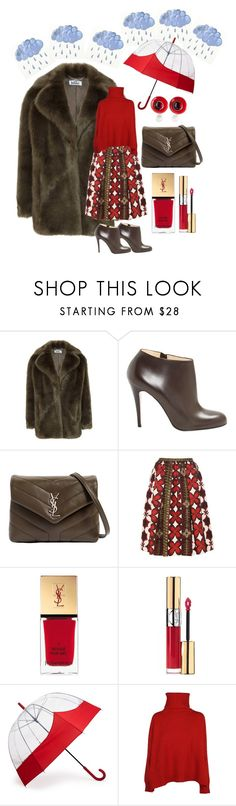 """Rainy Days"" by claudiamarzo ❤ liked on Polyvore featuring Christian Louboutin, Yves Saint Laurent, Valentino, Hunter and Ermanno Scervino"