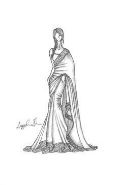 saree illustration