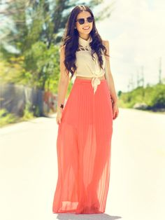 High Waisted Maxi Skirt With Crop Top