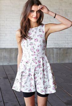 Garden Chic V-Back Dress | FOREVER21 - 2000065283