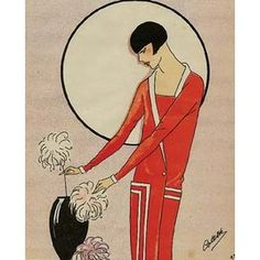 Cubism in fashion: fashion characterized by the cubism movement -- stylized by bold geometric shapes and hard thick lines