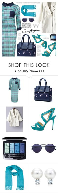 """""""Twinkledeals 90"""" by becky12 ❤ liked on Polyvore featuring Jimmy Choo, Christian Dior, Mykita, Hermès, vintage, chic, dress, Elegant and twinkledeals"""