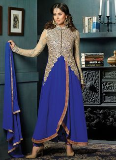 Buy Sangeeta Ghosh Blue Staright Pant Suit online from the wide collection of Salwar Kameez. This Blue colored Salwar Kameez in Faux Georgette fabric goes well with any occasion. Shop online Designer Salwar Kameez from cbazaar at the lowest price.
