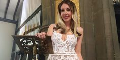 Katherine Ryan, Lace Wedding, Wedding Dresses, Celebs, Formal Dresses, Image, Beauty, Style, Fashion