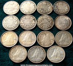 Old Canadian Silver Dime Coins Rare Coins Worth Money, Valuable Coins, Silver Dimes, Silver Coins, Old Coins Value, Saving Coins, Numismatic Coins, English Coins, Canadian Things