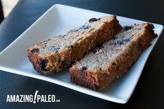 Paleo Banana Blueberry Bread