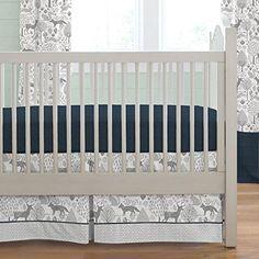 Carousel Designs Navy and Gray Woodland 2-Piece Crib Bedd... https://smile.amazon.com/dp/B01DPN5GTS/ref=cm_sw_r_pi_dp_x_wQ64ybYGHCNTS
