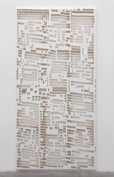 Hugh Scott-Douglas | Torn Cheque | Laser Cut Linen, 2013