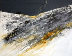 Winter's end: Mixed media on canvas by Marie Allen.