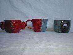 hear no/speak no/see no evil mugs. HS ceramics 2010