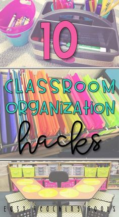 Easy Classroom Organization is important for so many reasons. I want to share with you 10 easy tips that will help you in your class. Click through to find various storage systems to make your life easier, teacher tips, organizing strategies, hacks, & much more to make running your elementary classroom go more smoothly. #ClassroomOrganization #Organize #TeacherTips