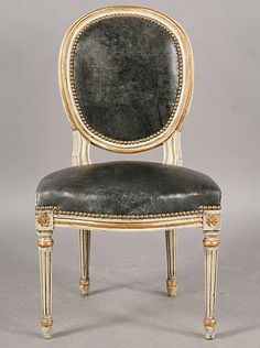 balloon back LOUIS XIV dining chair ???? NON Chaise médaillon style Louis XVI