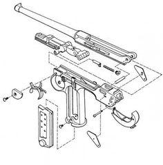 11 best diagrams images guns firearms military guns Ruger Mini-14 Manual sistema de cierre art culado o de rodilla