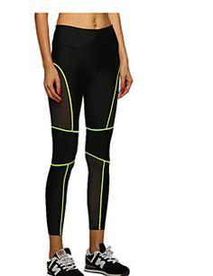 Carrera+Pantalones+/+Prendas+de+abajo+Mujer+Transpirable+/+Secado+rápido+Yoga+/+Carreras+/+Deportes+recreativos+/+Excursionismo+/+Running+–+USD+$+19.79