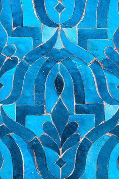 Marruecos arte fotografía azulejo azul fotografía por Likasvision